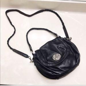 Auth Lucky Brand Black leather cross body purse